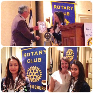 Rotary Exchange student Afra